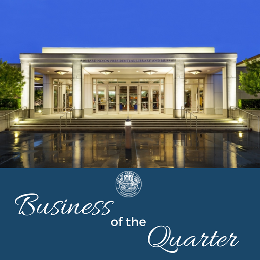 Business of the Quarter - Nixon Library Photo
