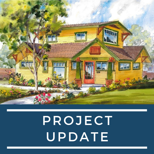 House rendering with &#34Project Update&#34