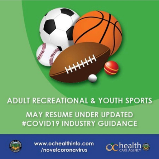 Outdoor Sports Resume in Orange County